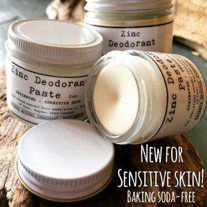 Zinc Deodorant Paste – Sensitive Skin Formula
