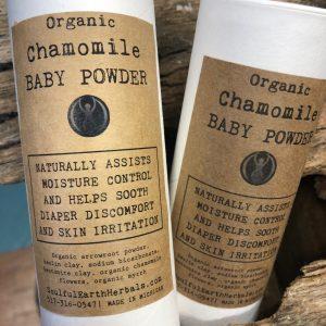 Organic Chamomile Baby Powder